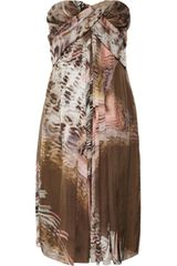 Matthew Williamson Printed Silkgeorgette Dress - Lyst