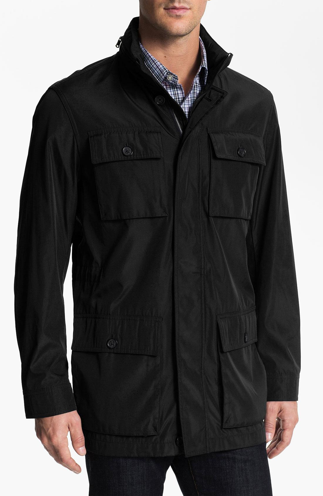 michael kors field jacket in black for men lyst. Black Bedroom Furniture Sets. Home Design Ideas
