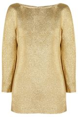 Michael Kors Metallic Brocade Top - Lyst