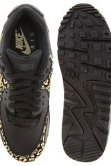 Nike Air Max 90 08 Gold Leopard Trainers in Black (blackgold) - Lyst