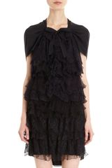 Nina Ricci Tiered Lace Dress - Lyst