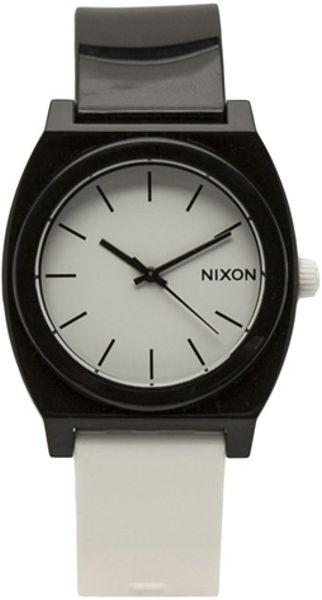 Nixon Time Teller Watch in White for Men (black)
