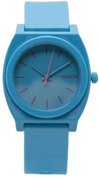 Nixon Time Tell Watch in Blue for Men