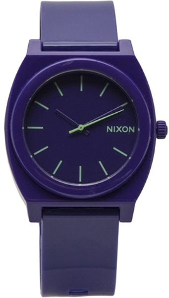 Nixon Time Teller Watch in Purple for Men