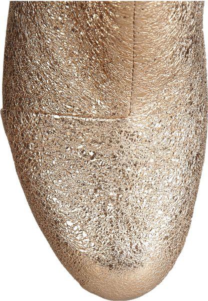 Rag Amp Bone Newbury Metallic Textured Leather Ankle Boots