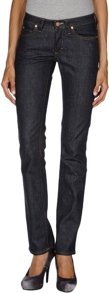 Acne Denim Trousers - Lyst