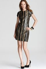 Aidan Mattox Sequin Dress Short Sleeve - Lyst