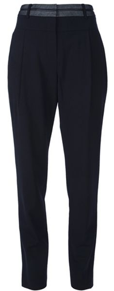 Alexander Wang Tapered Trouser with Inverted Waistband - Lyst