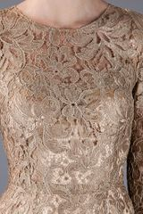 Dolce & Gabbana Lace Dress in Gold - Lyst