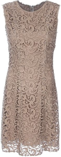 Dolce & Gabbana Sleeveless Lace Dress in Gold