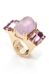 House Of Lavande Jeweled Knot Purple Amethyst Oversized Cocktail Ring
