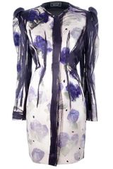 Lanvin Printed Coat Dress - Lyst