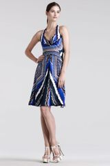Peter Pilotto Che Vsl Racerback Printed Dress - Lyst