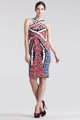 Peter Pilotto Mixed Digital Printed Dress - Lyst