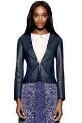 Tory Burch Abby Leather Jacket - Lyst