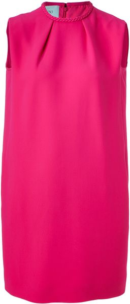 Valentino Fuchsia Silk Dress - Lyst
