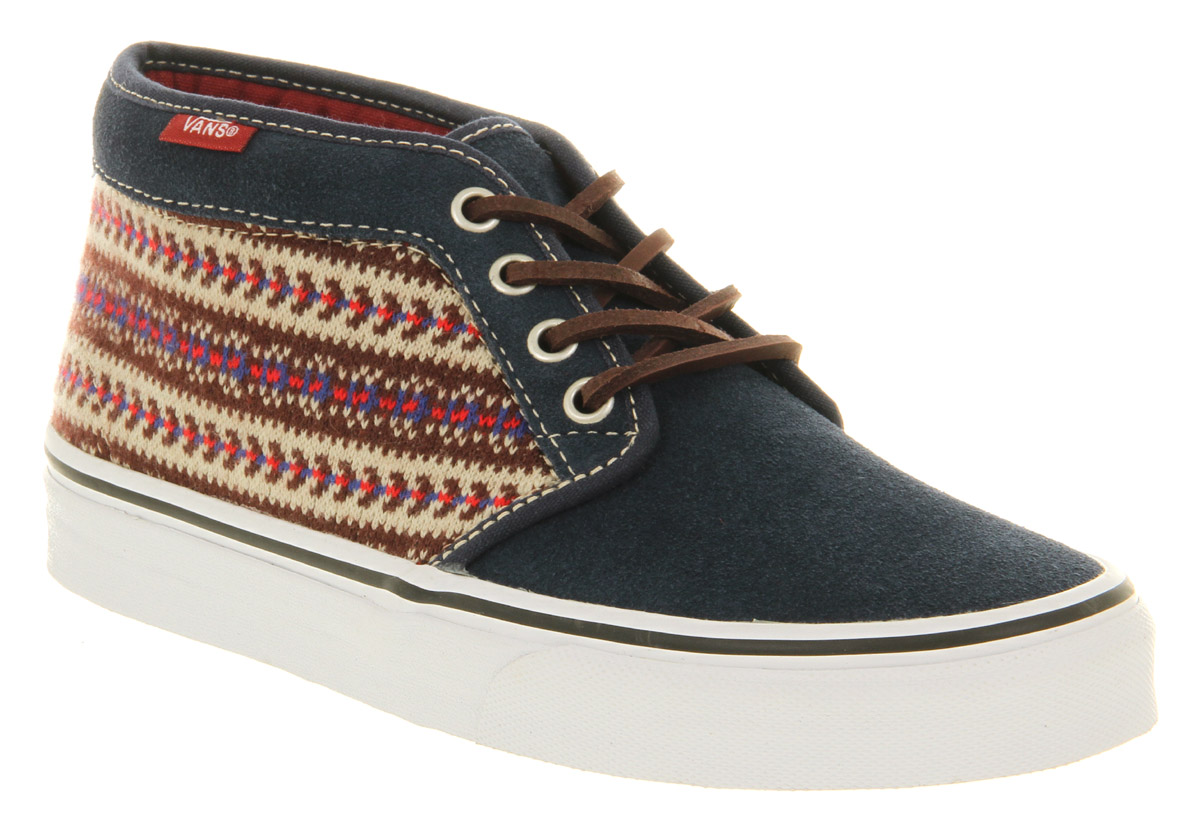 65236d9e3db166 Lyst - Vans Chukka Boot Omu Navy Suede Nordic Smu in Blue for Men