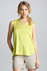 Vince Sleeveless Halfplacket Blouse - Lyst