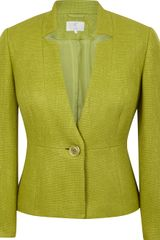 Cc Elegant Tailored Jacket Cut From Textured Fabric in Green (cactus) - Lyst