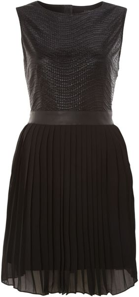 Cutie Metallic Sheen Pleated Dress - Lyst