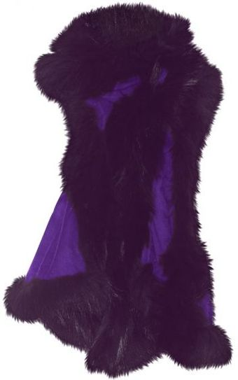 Hayley Menzies Purple Cashmere Fur Chelsea Lightweight Scarf - Lyst
