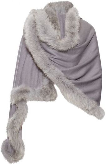 Hayley Menzies Chelsea Cashmere Fox Fur Smoke Shawl - Lyst