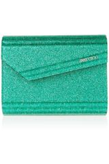 Jimmy Choo Candy Glitterprint Acrylic Clutch - Lyst