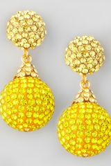 Jose & Maria Barrera Pave Crystal Doubledrop Earrings  - Lyst
