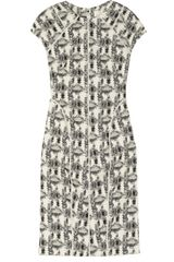 Lela Rose Patterned Cotton Blend Brocade Dress - Lyst