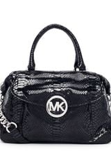 Michael by Michael Kors Large Fulton Pythonembossed Satchel Bag - Lyst