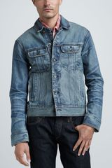 Rag & Bone Mediumwash Denim Jacket - Lyst