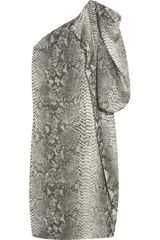 Stella McCartney Pythonprint Silk Satin Dress - Lyst