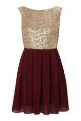 Tfnc Sequin Sarah High Low Dress in Gold - Lyst