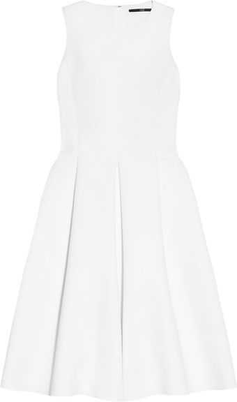 Tibi Pleated Neoprene Dress - Lyst
