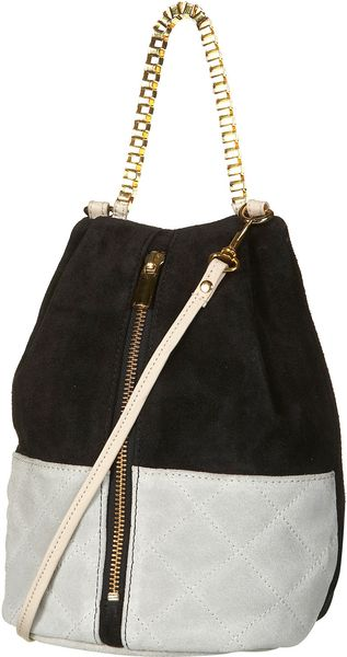 Topshop Quilted Box Chain Bag - Lyst
