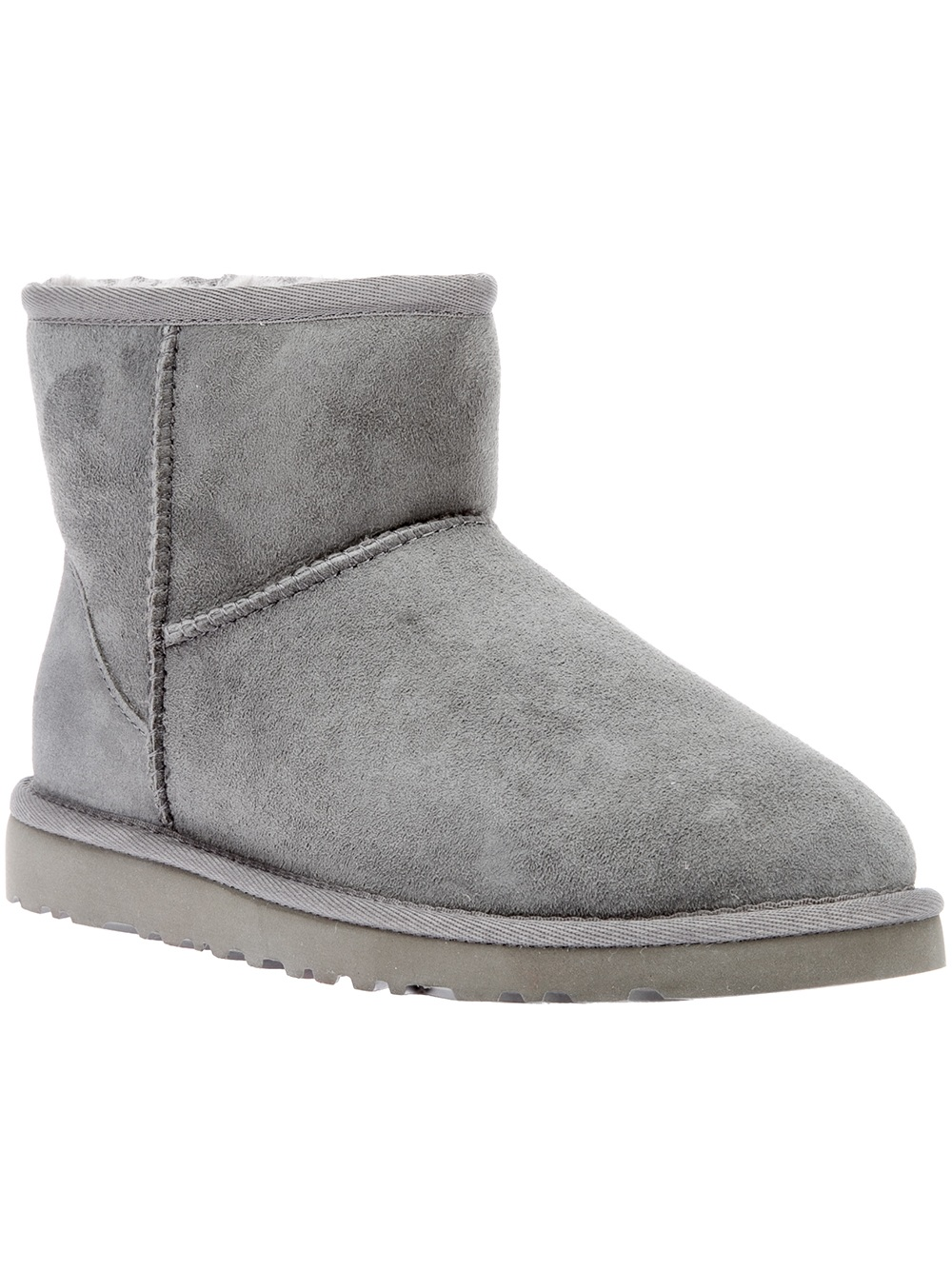 ugg shearling boot in gray grey lyst