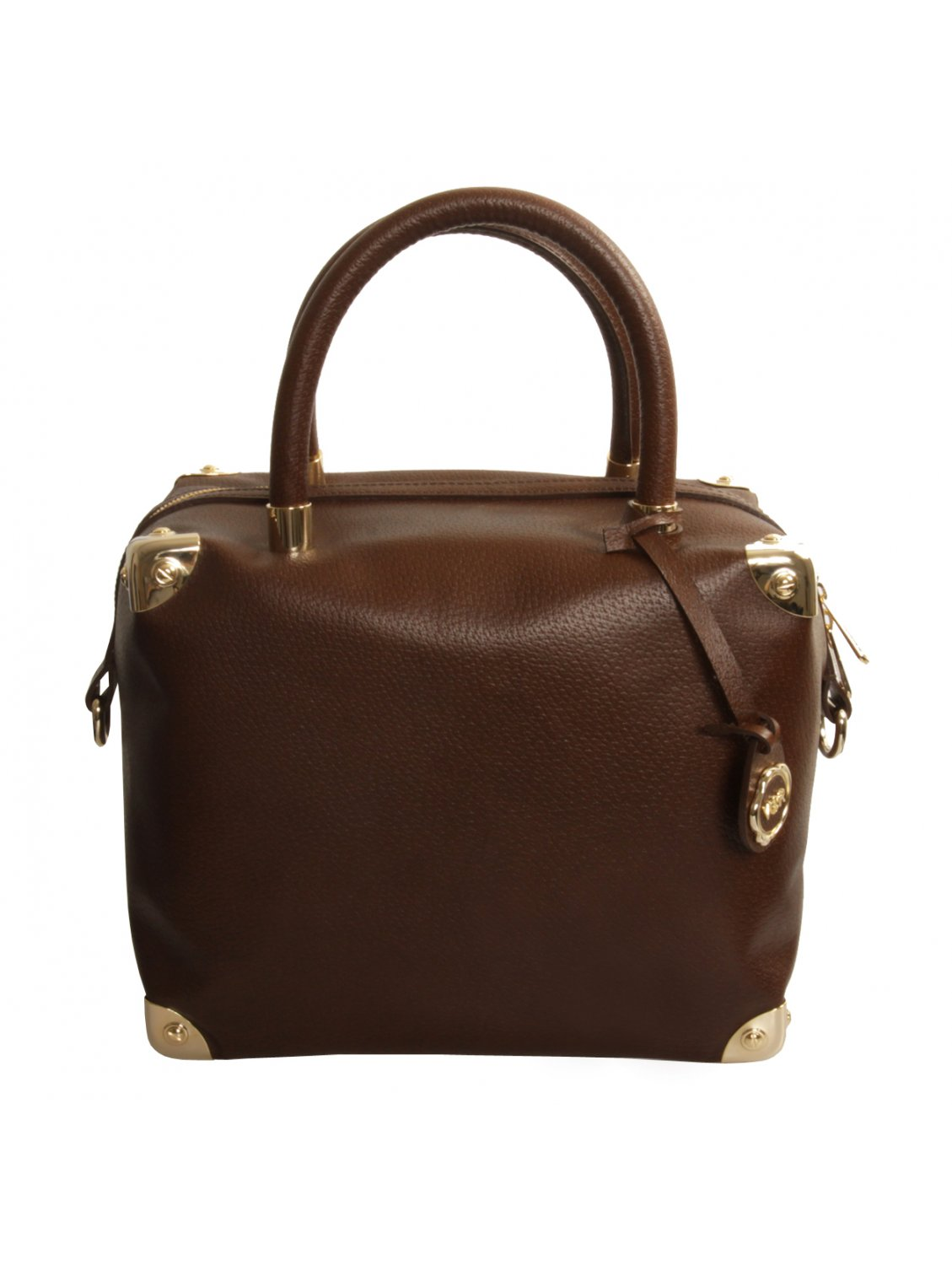 Viktor & Rolf Medium Leather Travel Bag in Brown | Lyst