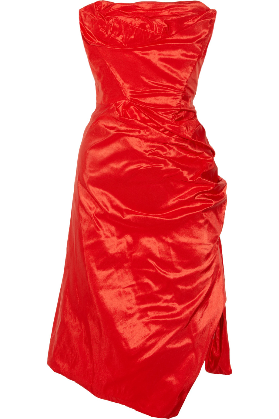 Lyst - Vivienne Westwood Gold Label Corseted Silk-taffeta Dress in Red