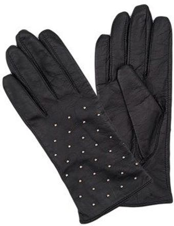 French Connection Studded Leather Gloves - Lyst