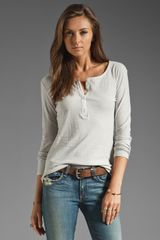 James Perse Farm Hand Long Sleeve Henley - Lyst