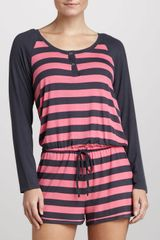 Josie Striped Raglan Jumpsuit  - Lyst
