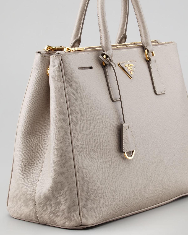 Prada Saffiano Executive Tote Bag Pomice in Beige (pomice) | Lyst