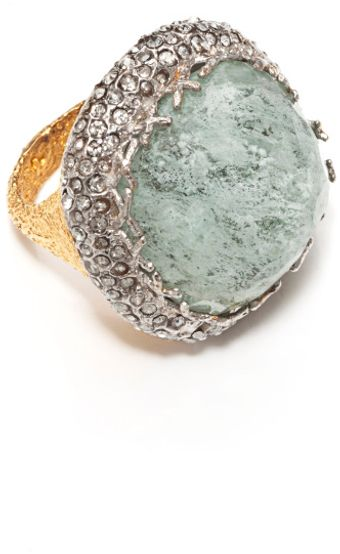 Alexis Bittar Mauritius Imitation Aqua Cocktail Ring - Lyst