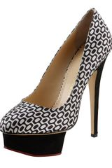 Charlotte Olympia Dolly Opticprint Pump - Lyst