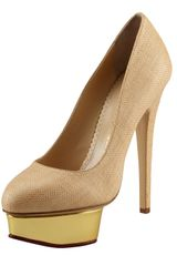 Charlotte Olympia Dolly Raffia Pump Natural - Lyst