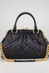 Marc Jacobs Stam Quilted Leather Satchel Bag Black - Lyst