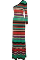 BCBGMAXAZRIA Anadia Striped Silk and Cotton Blend Dress - Lyst