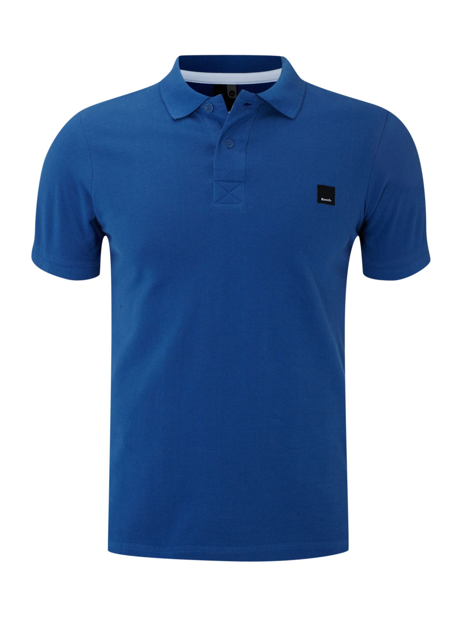 bench contrast collar polo shirt in blue for men lyst