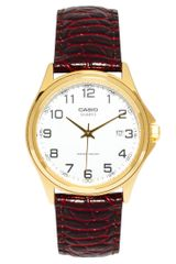 Casio Watch Mtp7bef Leather Strap - Lyst