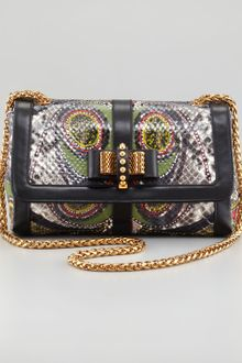 Christian Louboutin Sweet Charity Paisley Python Shoulder Bag - Lyst